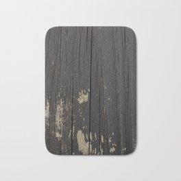 Black Wood Bath Mat
