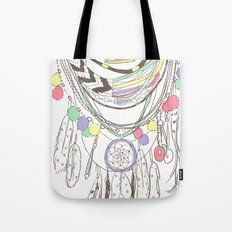 Tribal Necklace Tote Bag