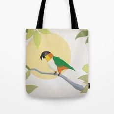 Black-Headed Caique Parrot Tote Bag