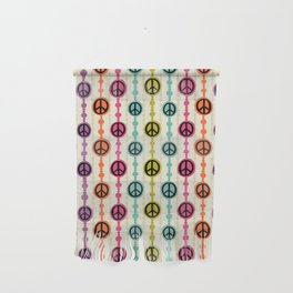 Peace Signs Hippie Beaded Curtain Wall Hanging