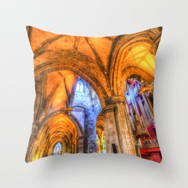 St Giles Cathedral Edinburgh Scotland Throw Pillow