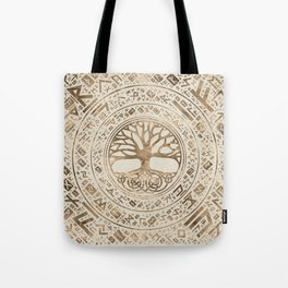 Tree of life -Yggdrasil Runic Pattern Tote Bag