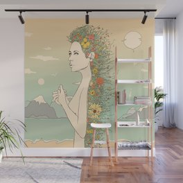 Facade of Existence (Let Life Blossom) Wall Mural