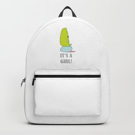 It's a girl baby shower print Backpack