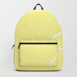 Bangkok Thailand Minimal Street Map - Pastel Yellow and White II Backpack