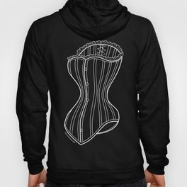 Corset One in White Hoody