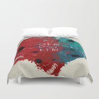 calavera Duvet Covers featuring calavera sisters by DizzyNicky