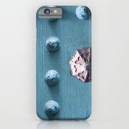 Door Knob #4 on Painted Wooden Door iPhone Case