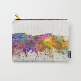 Porto skyline in watercolor background Carry-All Pouch