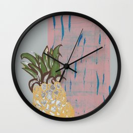 Pineapple Textures Wall Clock