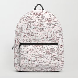 Physics Equations in Red Pen Backpack