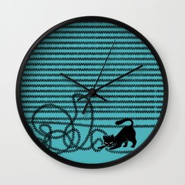 Unravel (in Blue) Wall Clock
