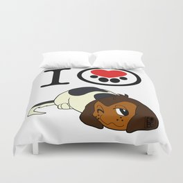 I Heart furBags - Beagle Duvet Cover