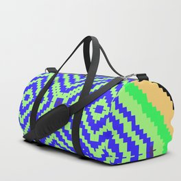 Abstract Pixels (Color) by Kimberly J Graphics Duffle Bag
