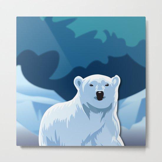 Lonely Polar Bear Metal Print
