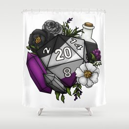 Pride Asexual D20 Tabletop RPG Gaming Dice Shower Curtain