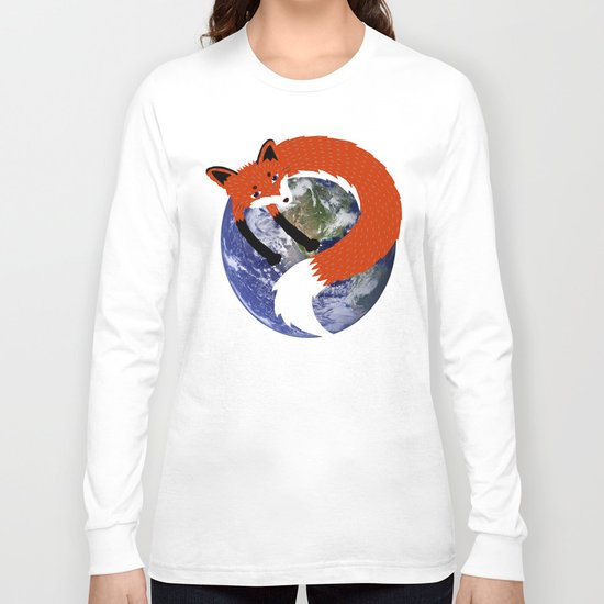 Fox in the Universe Long Sleeve T-shirt