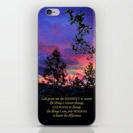 Serenity Prayer Spring Sunrise iPhone Skin