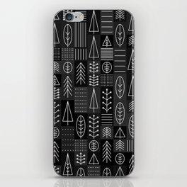 Random Trees Greyscale  iPhone Skin
