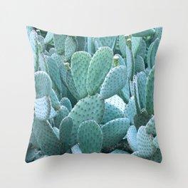 Blue Cacti | Bohemian nature photography Throw Pillow