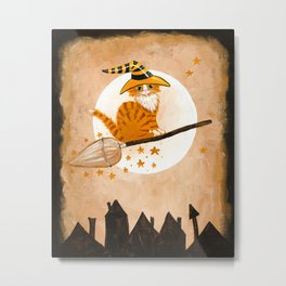 The Ginger Witch Cat Metal Print