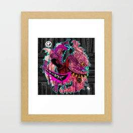 Down with Monsters Framed Art Print