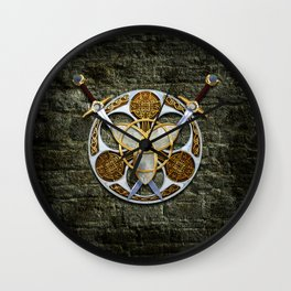 Celtic Shield and Swords Wall Clock
