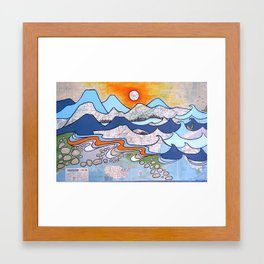 Mountains to Sea Framed Art Print