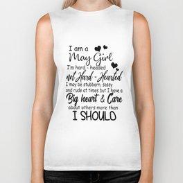 i am may girl i am hard headed not hard hearted i may be stubborn sister Biker Tank