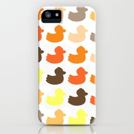 Ducky ducks pattern (brown / yellow edition) iPhone Case