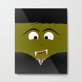 Cute Count Dracula Vampire Metal Print