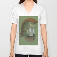 soldier V-neck T-shirts featuring Soldier by Jane Stradwick