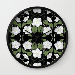Moonflowers Wall Clock