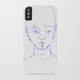 Troubled Young Man iPhone Case