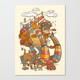 Circusbot Canvas Print