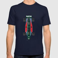 Outline Series N.º2, Mario Andretti, Lotus 80-Ford 1980 LARGE Navy Mens Fitted Tee