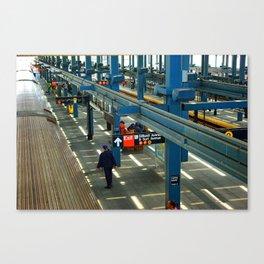 Coney Island Subway Train Station Platforms Canvas Print