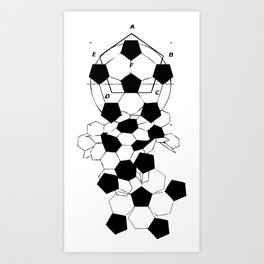 Soccer Football Ball pattern design  Art Print