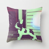 puppy Throw Pillows featuring Puppy by Karolis Butenas