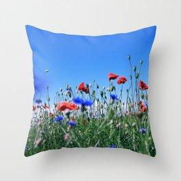 poppy flower no11 Throw Pillow