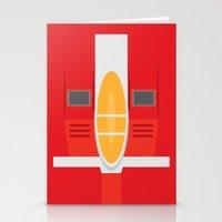transformers Stationery Cards featuring Starscream Transformers Minimalist by Jamesy