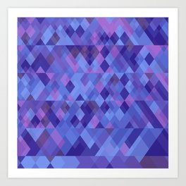 Geometric mosaique Art Print