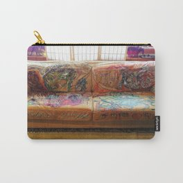 """""""Famous Late Night Painted Sofa"""" - nice, very old Italian Leather Sofa I painted. Carry-All Pouch"""