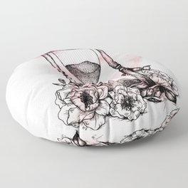 Floral Hourglass Floor Pillow