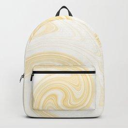 Molten swirls zen, yin and yang serendipity in Aspen-gold Backpack