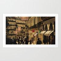 Saturday Shoppers (acheteurs samedi) Art Print