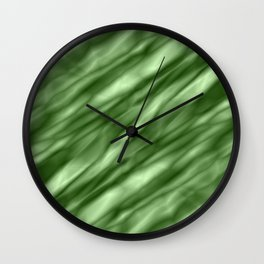 A interweaving cluster of green bodies on a violet background. Wall Clock