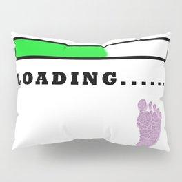 Baby Loading Girl Pillow Sham