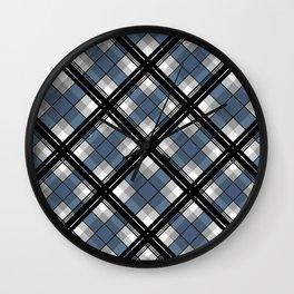 Black and blue tartan Wall Clock