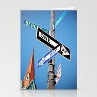 brooklyn Stationery Cards featuring BROOKLYN by Orgut Cayli
